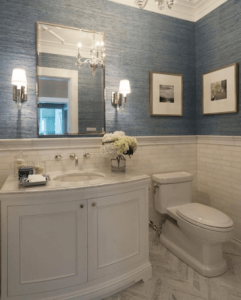 Textured Wallpaper - Bathroom Ideas Vancouver