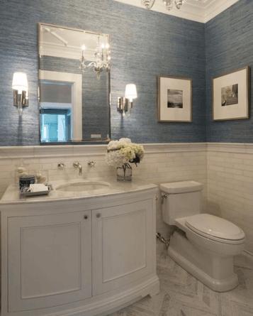 Textured Wallpaper - Bathroom Ideas Vancouver