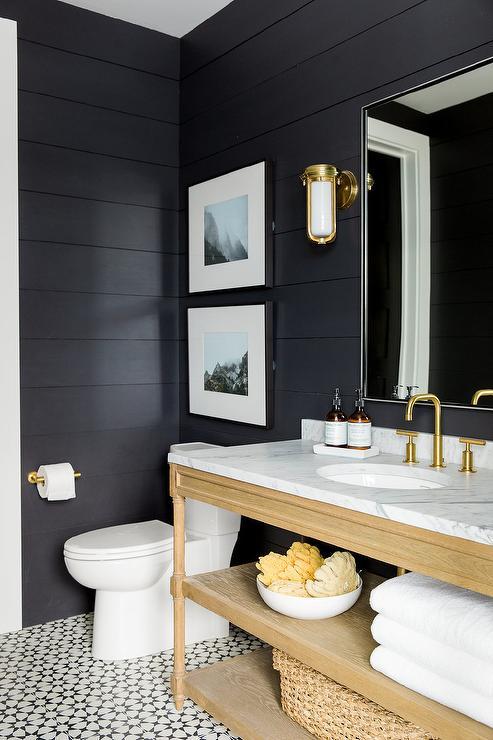 Dark Walls - Bathroom Ideas Vancouver