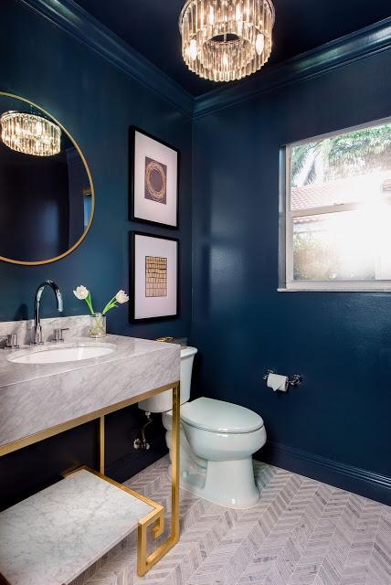 Dark Walls - Bathroom Ideas